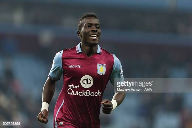 Idrissa Gueye of Aston Villa celebrates after scoring a goal to make it 20 during the Emirates FA Cup match between Aston Villa and Wycombe Wanderers...