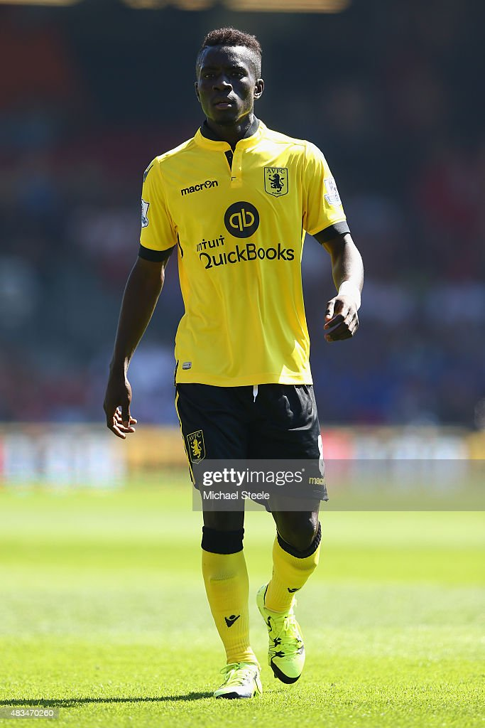 <a gi-track='captionPersonalityLinkClicked' href=/galleries/search?phrase=Idrissa+Gueye&family=editorial&specificpeople=7312174 ng-click='$event.stopPropagation()'>Idrissa Gueye</a> of Aston Villa during the Barclays Premier League match between Bournemouth and Aston Villa at the Vitality Stadium on August 8, 2015 in Bournemouth, England.