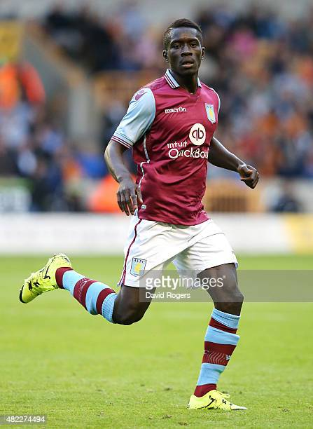 Idrissa Gueye of Aston Villa looks on during the pre season friendly between Wolverhampton Wanderers and Aston Villa at Molineux on July 28 2015 in...