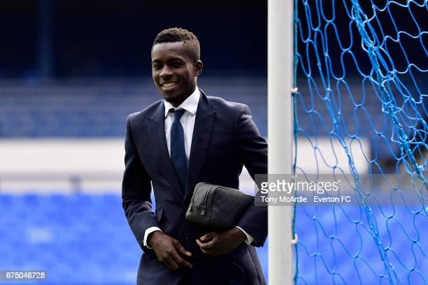 Idrissa Gueye of Everton arrives before the Premier League match between Everton and Chelsea at the Goodison Park on April 30 2017 in Liverpool...
