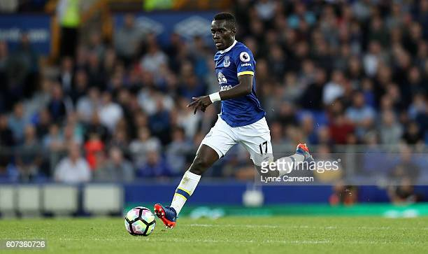 Idrissa Gueye of Everton during the Premier League match between Everton and Middlesbrough at Goodison Park on September 17 2016 in Liverpool England