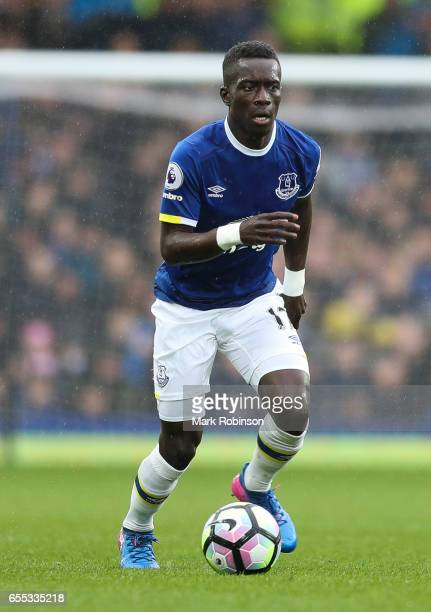 Idrissa Gueye of Everton during the Premier League match between Everton and Hull City at Goodison Park on March 18 2017 in Liverpool England