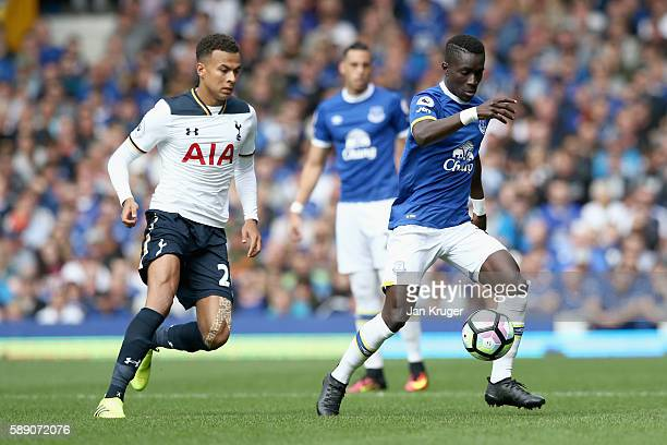 Idrissa Gueye of Everton in action during the Premier League match between Everton and Tottenham Hotspur at Goodison Park on August 13 2016 in...