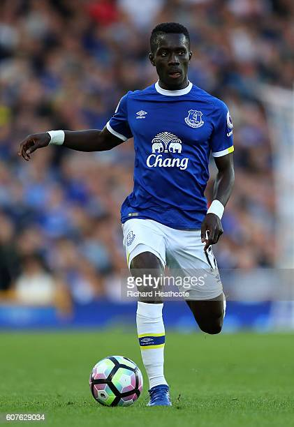 Idrissa Gueye of Everton in action during the Premier League match between Everton and Middlesbrough at Goodison Park on September 17 2016 in...