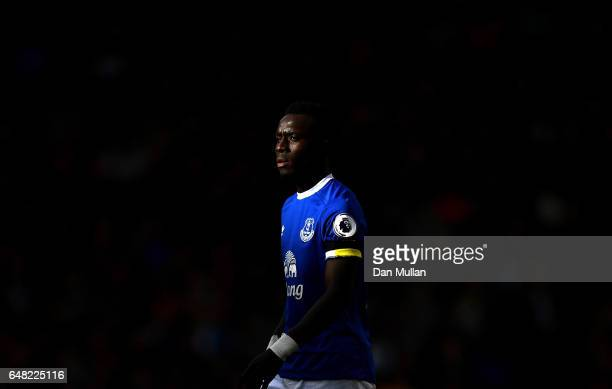 Idrissa Gueye of Everton looks on in the sun during the Premier League match between Tottenham Hotspur and Everton at White Hart Lane on March 5 2017...