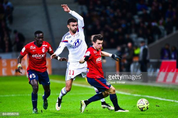 Idrissa GUEYE / Rachid GHEZZAL / Sebastien CORCHIA Lille / Lyon 27eme journee de Ligue 1 Photo Dave Winter / Icon Sport