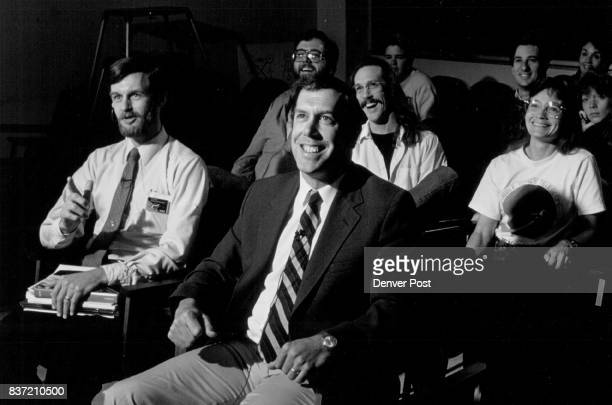 Front left white shirt Robert Stencel Executive Director Center for Astrophysics and Space Astronomy Front right Jacket and tie Ted Snow director ' '...