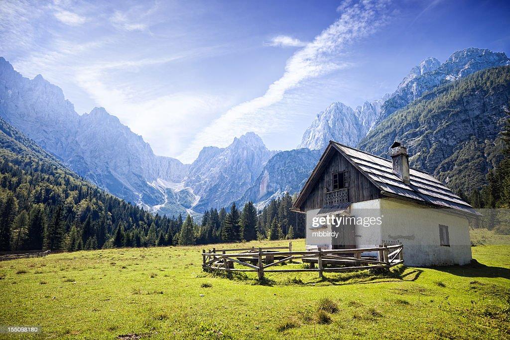 Idyllic Alps valley