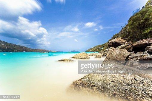 Idyllic beach at Magens bay, Saint Thomas