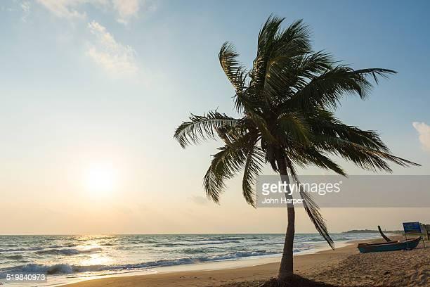 Idyllic beach at sunset