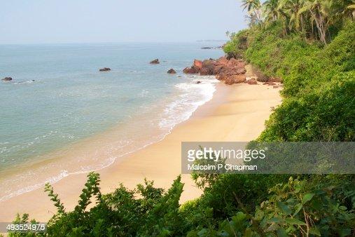 Idyllic beach, Kannur, Kerala, India : Stock Photo