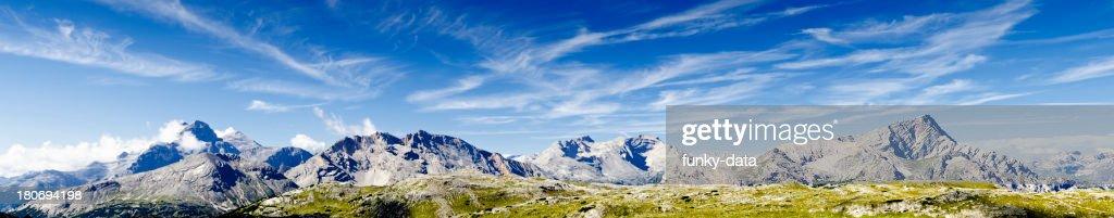 Idyllic Dolomites landscape panorama