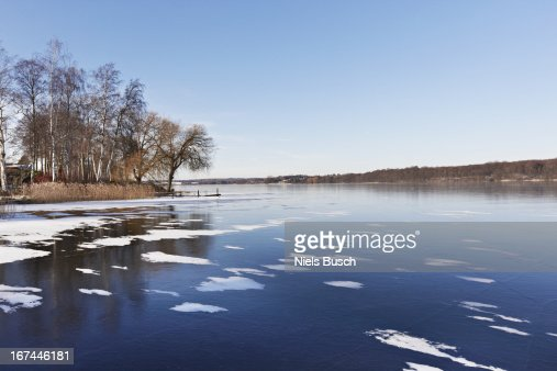 Idyllic frozen lake : Stock Photo