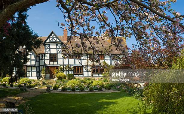 Idyllic home with blossom