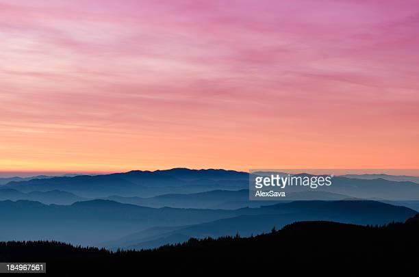 idyllic landscape at dawn