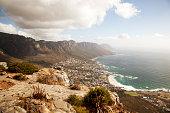 Idyllic mountain and sea scenery
