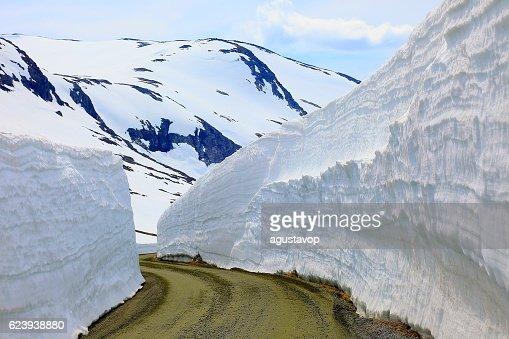 Idyllic Norwegian Gamle Strynefjellsvegen National Tourist route, Norway, Scandinavia