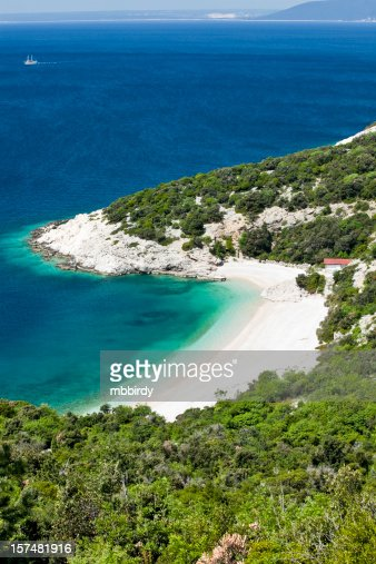 Idyllic sandy beach : Stock Photo