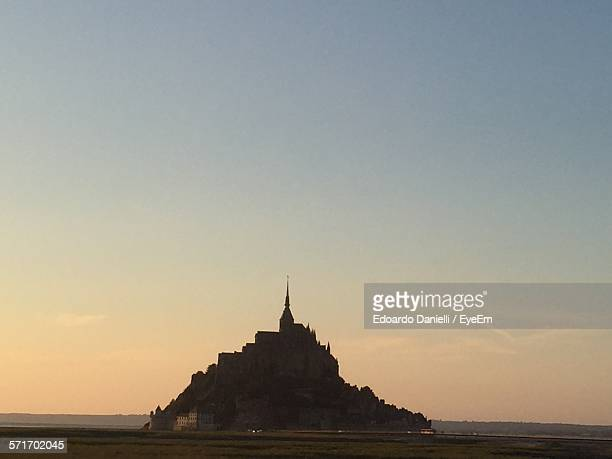 Idyllic Shot Of Mont Saint-Michel Against Clear Sky
