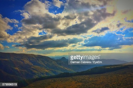 Idyllic Shot Of Mountain Range Against Sky At Sierra Nevada