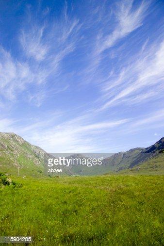 のどかな夏の日、スコットランド高地