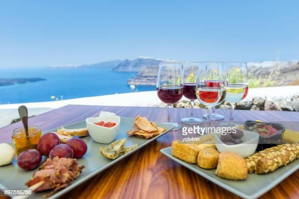 Idyllic tasting of greek specialities