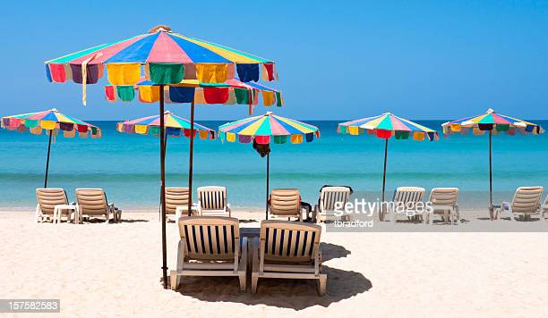 Spiaggia idilliaca scena