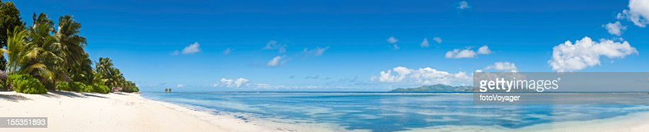 Idyllic vacation beach white sands tropical island blue for White sand beach vacations