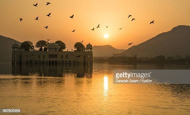 Idyllic View Of Jal Mahal During Sunset Against Sky