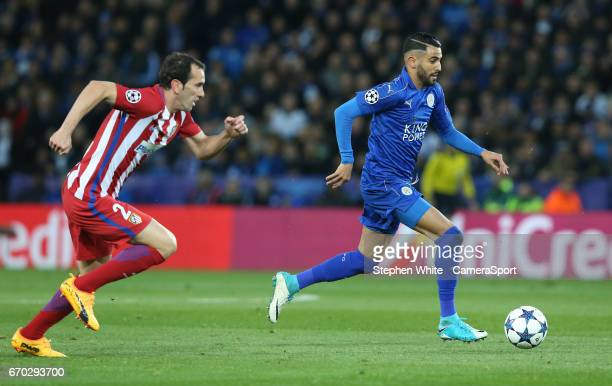 iego Godin during the UEFA Champions League Quarter Final second leg match between Leicester City and Club Atletico de Madrid at The King Power...