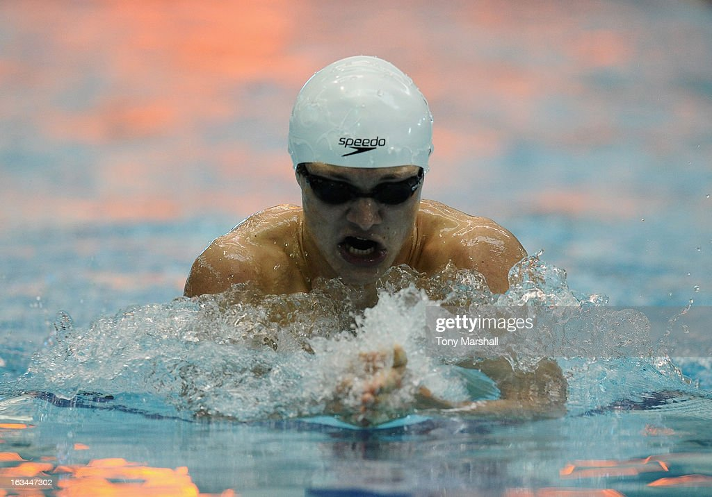 Ieuan Lloyd of City of Cardiff in action in his heat of the Men's Open 200m Individual Medley during The British Gas International Swimming Meet at John Charles Centre for Sport on March 10, 2013 in Leeds, England.