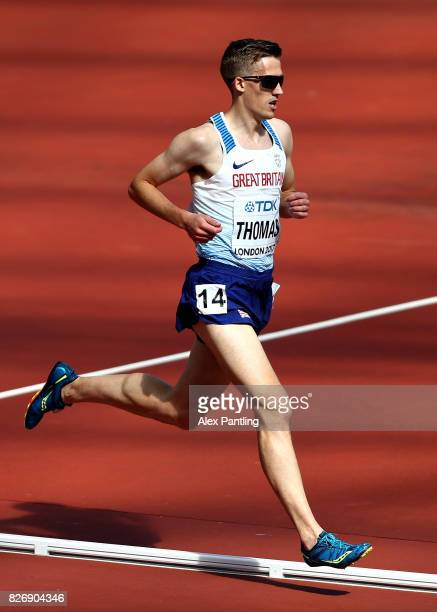 Ieuan Thomas of Great Britain competes in the Men's 3000 metres Steeplechase heats during day three of the 16th IAAF World Athletics Championships...