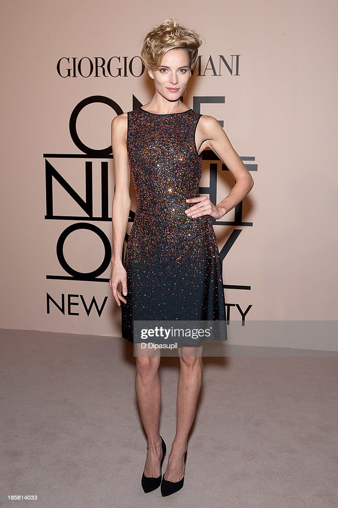 Ieva Laguna attends Armani - One Night Only New York at SuperPier on October 24, 2013 in New York City.