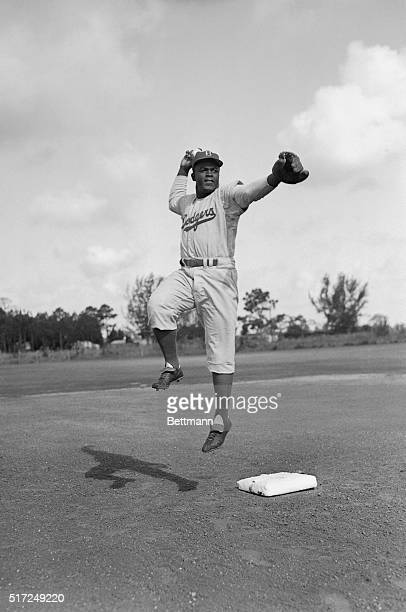 If early indications count for anything the season of 1950 may be the big one for Jackie Robinson second sacker of the Brooklyn Dodgers who is shown...