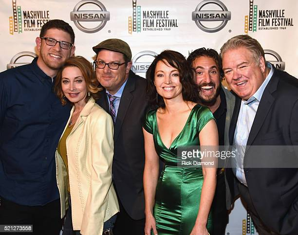 'If I Could Tell You' Rob Clyde Sharon Lawrence Ben Clyde Avery Clyde Mitch Yapko and Jim O'Heir attend the 2016 Nashville Film Festival Day 1 at...