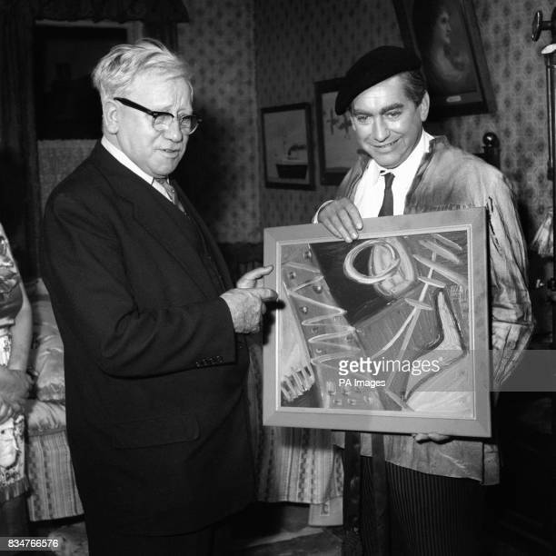 If Lord Morrison of Lambeth looks puzzled it's only because like everybody else he is unfamiliar with the abstract works of Tony Hancock painter...