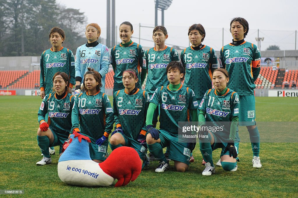 Iga FC Kunoichi players pose for a team photograph prior to the 34th Empress's Cup All Japan Women's Football Tournament semi final match between Iga FC Kunoichi and JEF United Chiba Ladies at Nack 5 Stadium Omiya on December 22, 2012 in Saitama, Japan.