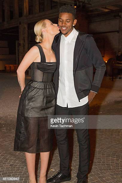 Iggy Azalea and Nick Young attend a celebration for Italo Zucchelli's Spring 2015 Men's runway show with an intimate dinner during Milan Fashion Week...