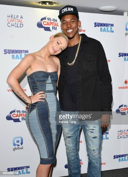 Iggy Azalea and Nick Young attend the Capital Summertime Ball at Wembley Stadium on June 21 2014 in London England