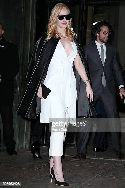 Iggy Azalea arrives at the Giorgio Armani Prive Haute Couture Spring Summer 2016 show as part of Paris Fashion Week on January 26 2016 in Paris France