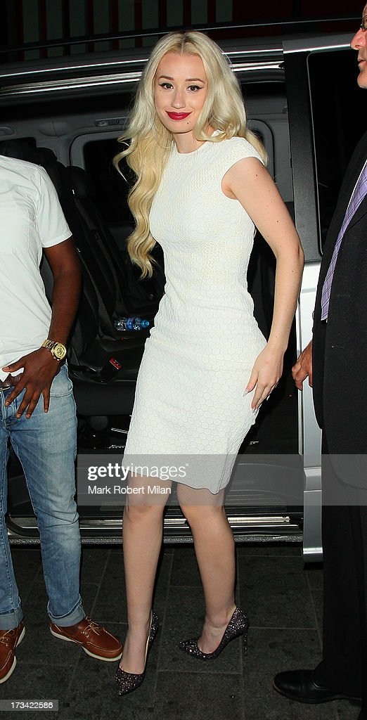 Iggy Azalea arriving at Rise night club on July 13, 2013 in London, England.