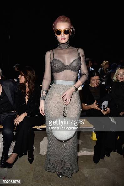 Iggy Azalea attends the Viktor Rolf Spring Summer 2016 show as part of Paris Fashion Week on January 27 2016 in Paris France