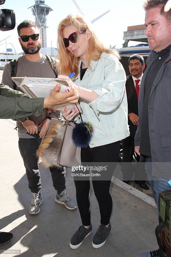 Iggy Azalea is seen at LAX on February 05, 2016 in Los Angeles, California.