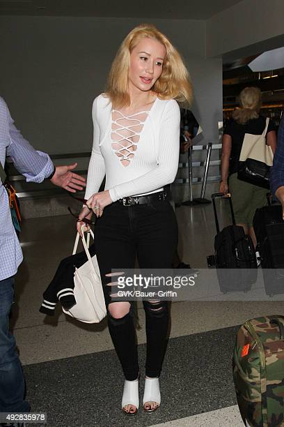 Iggy Azalea is seen at LAX on October 15 2015 in Los Angeles California
