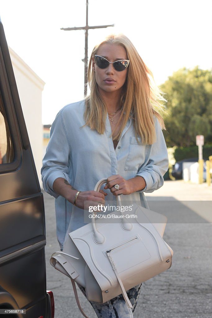 celine pouch clutch - Celebrity Sightings In Los Angeles - June 02, 2015 | Getty Images