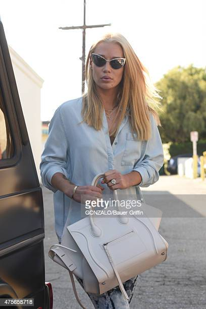 Iggy Azalea is seen with her new engagement ring and Celine handbag on June 02 2015 in Los Angeles California