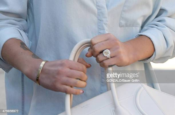 Iggy Azalea is seen with her new engagement ring on June 02 2015 in Los Angeles California