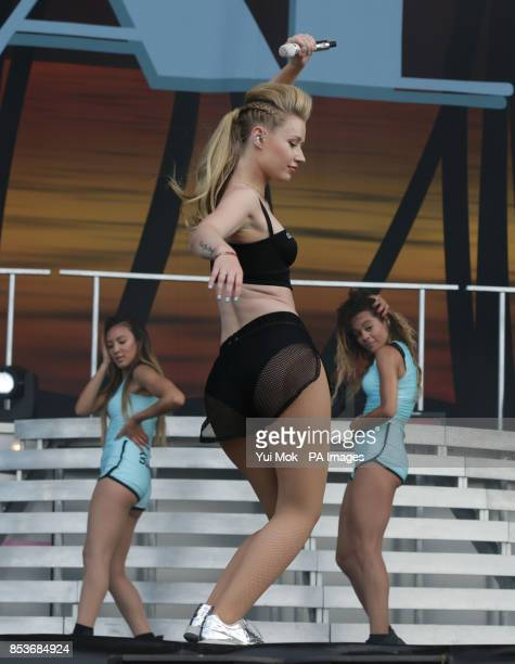 Iggy Azalea performing on the Main Stage at the Wireless Festival in Finsbury Park north London