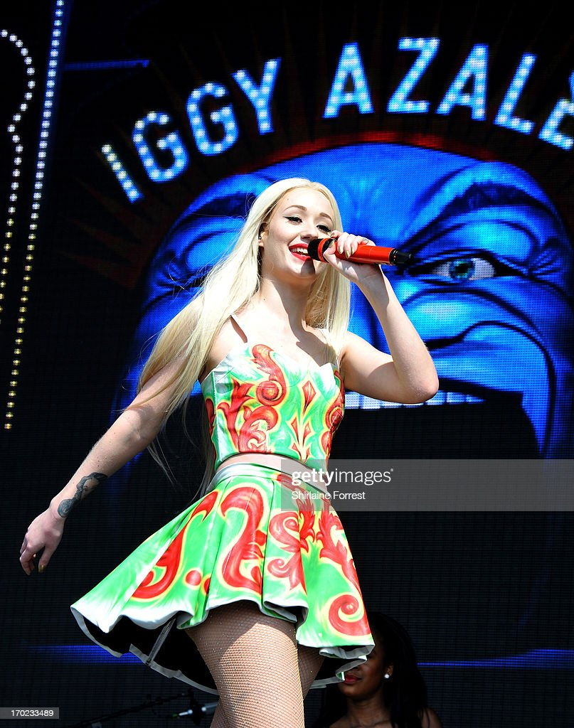 Iggy Azalea performs at Day 2 of the Parklife Festival at Heaton Park on June 9, 2013 in Manchester, England.