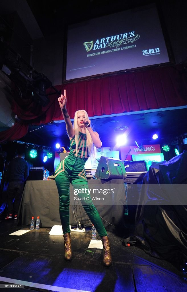 <a gi-track='captionPersonalityLinkClicked' href=/galleries/search?phrase=Iggy+Azalea&family=editorial&specificpeople=8558263 ng-click='$event.stopPropagation()'>Iggy Azalea</a> performs at Whelan's as part of the fifth annual Arthur's Day celebrations on September 26, 2013 in Dublin, Ireland. Arthur's Day sees fans come together to experience live music and cultural events in over 500 pubs around Ireland. This year Arthur's Day will spread beyond music to support, promote and showcase Ireland's innovators, artists, poets, writers and culinary experts. It promises to be an extraordinary night, featuring performances from hundreds of home grown acts, rising stars and other internationally renowned artists such as, The Script, James Vincent McMorrow, The Original Rudeboys, Girl Band, Bouts, Le Galaxie, Ham Sandwich, Daley, Manic Street Preachers, Emeli Sande, Janelle Monae, Biffy Clyro, Kodaline, <a gi-track='captionPersonalityLinkClicked' href=/galleries/search?phrase=Iggy+Azalea&family=editorial&specificpeople=8558263 ng-click='$event.stopPropagation()'>Iggy Azalea</a> and the legendary Bobby Womack. For more information visit www.guinness.com or www.facebook.com/Guinnessireland